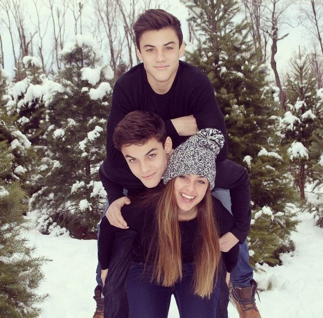 Grayson Dolan family: twin brother Ethan, sister, parents