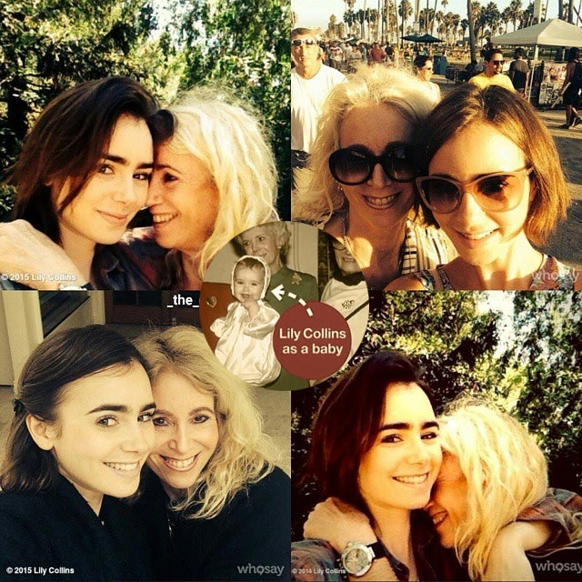 Lily Collins mother