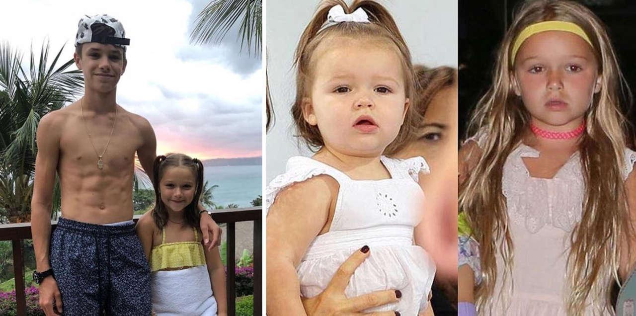 Harper Beckham younger sister Romeo Beckham