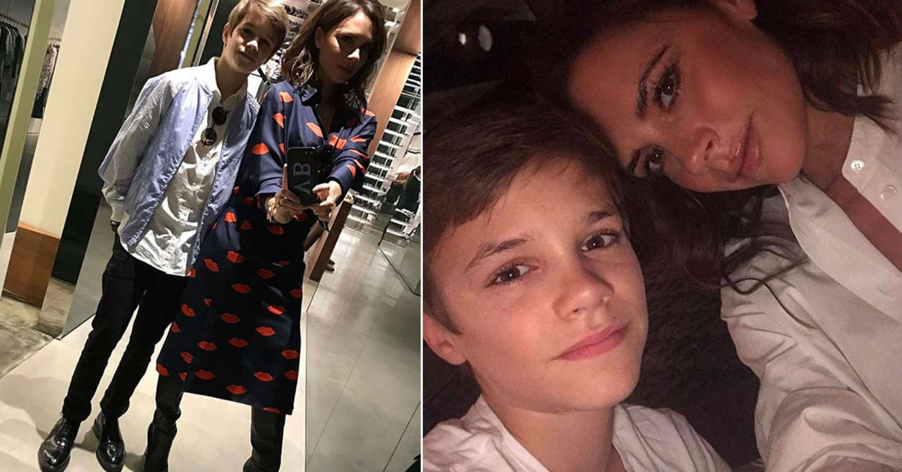 Victoria Adams Beckham mother Romeo Beckham