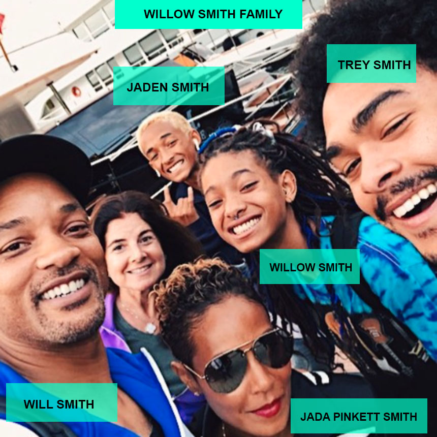 Willow Smith family