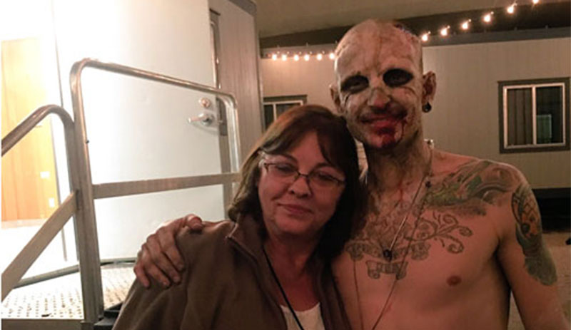 Chester Bennington mother photo