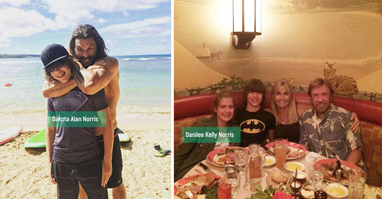 Dakota Alan and Danilee Kelly Norris - Chuck Norris kids