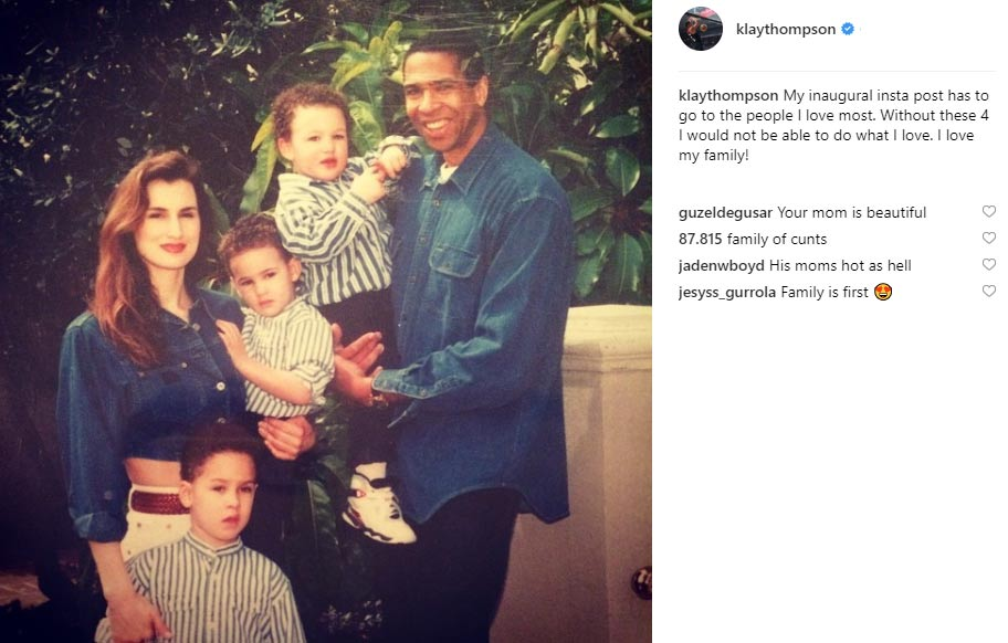 Klay Thompson father Mychal Thompson