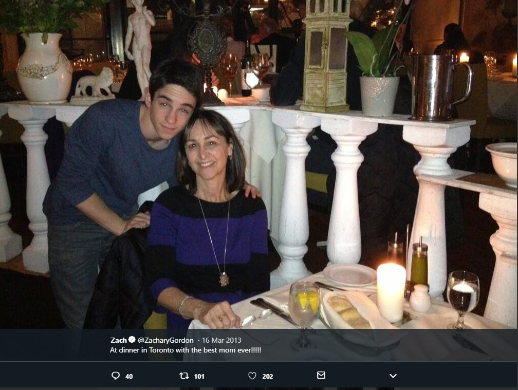 Linda Gordon mother Zachary Gordon