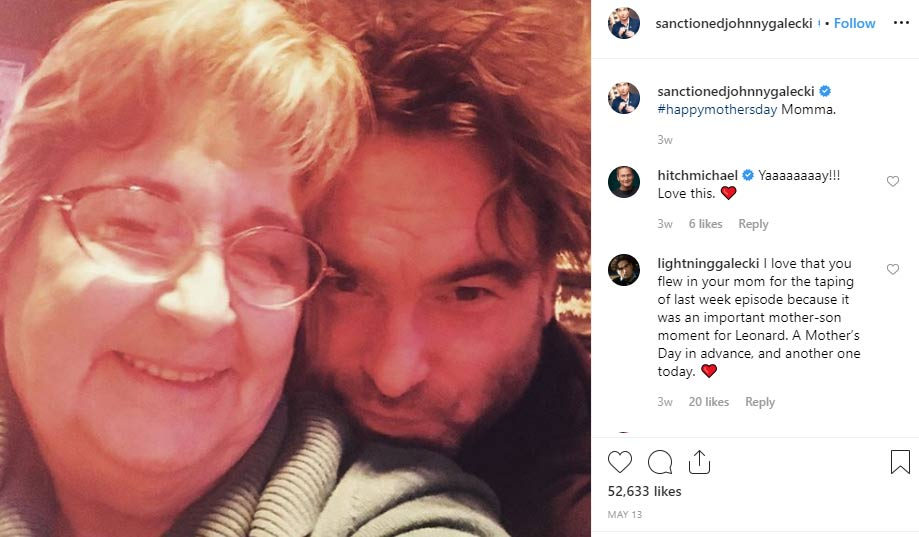 Mary Lou Noon Galecki mother Johnny Galecki