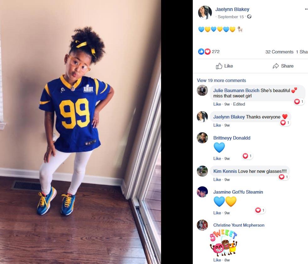 Aaron Donald kids daughter Jeada Donald