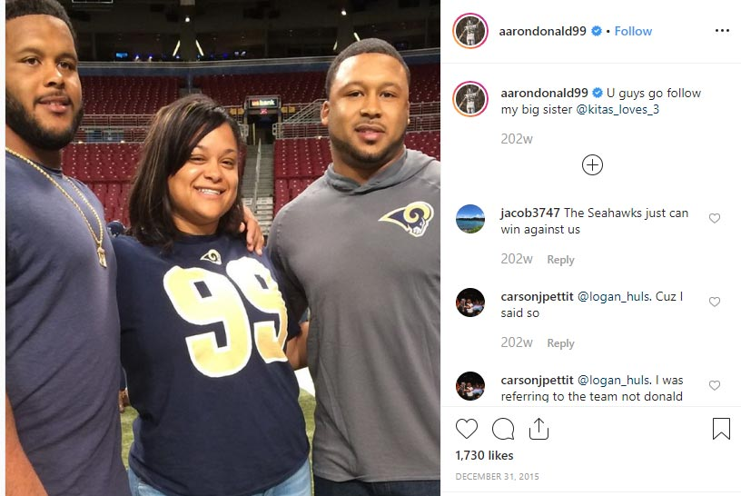 Aaron Donald Family Baby Mother Kids Parents Siblings Familytron