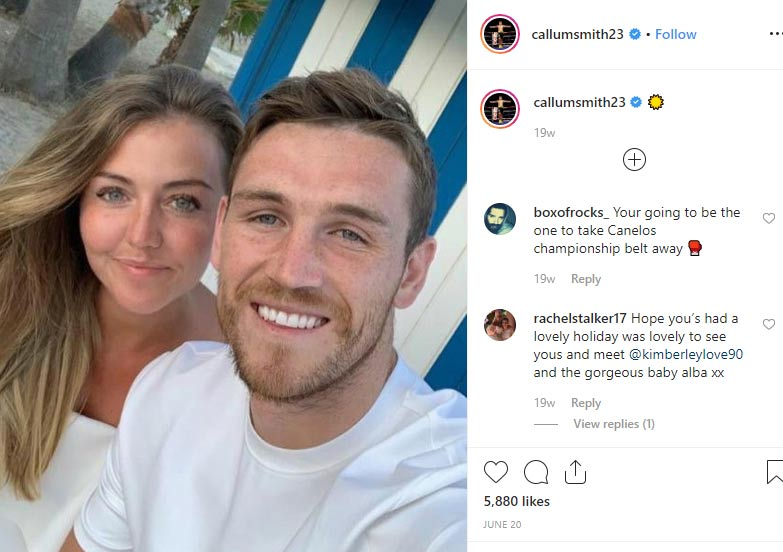 Kimberly baby mother; long-term girlfriend Callum Smith