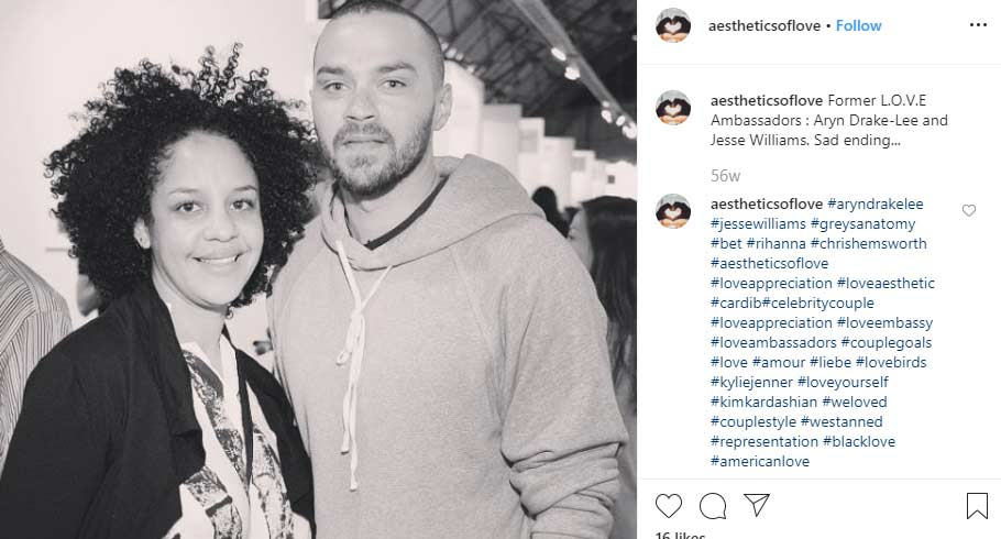 Jesse Williams ex wife Aryn Drake-Lee