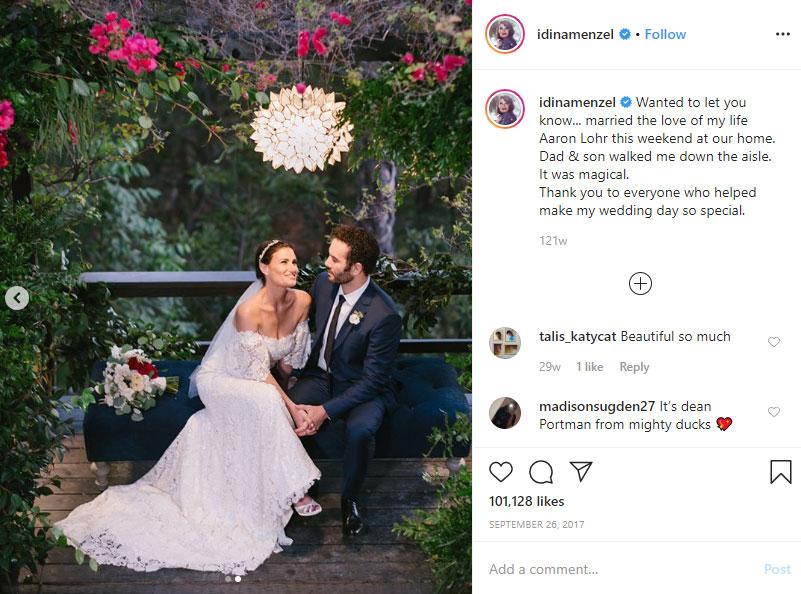 Aaron Lohr husband Idina Menzel