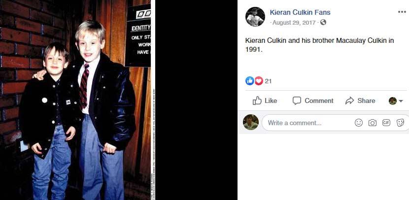 Kieran Culkin younger brother Macaulay Culkin
