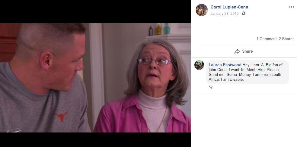 Carol Cena mother John Cena