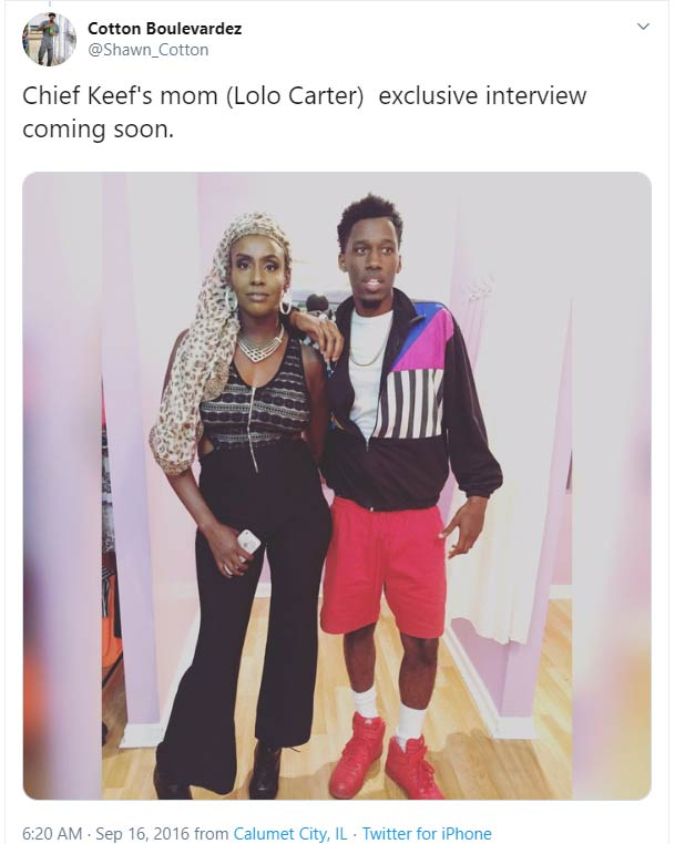 Lolo Carter mother Chief Keef