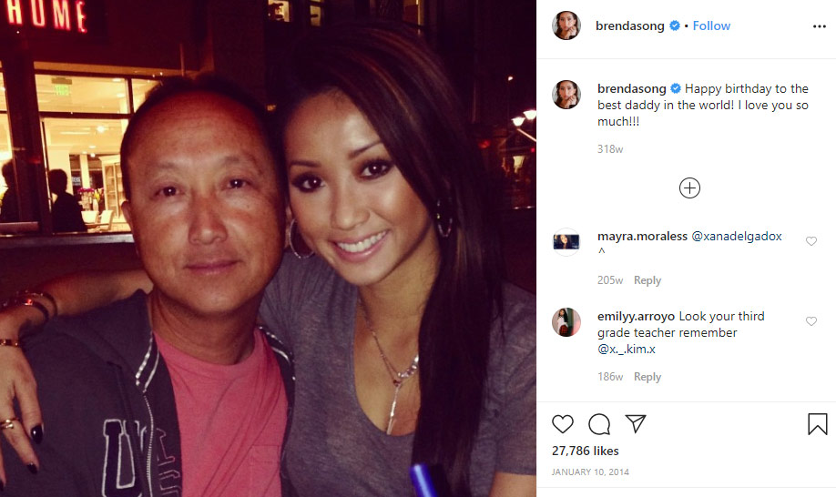 Song Yeng father Brenda Song