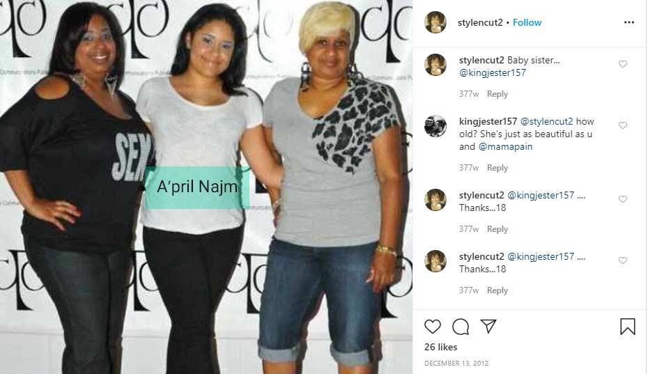 A'pril Najm sister Hakim Najm