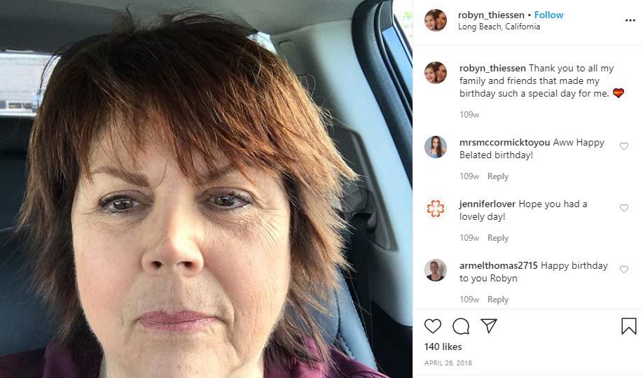 Robyn Thiessen mother Tiffani Thiessen