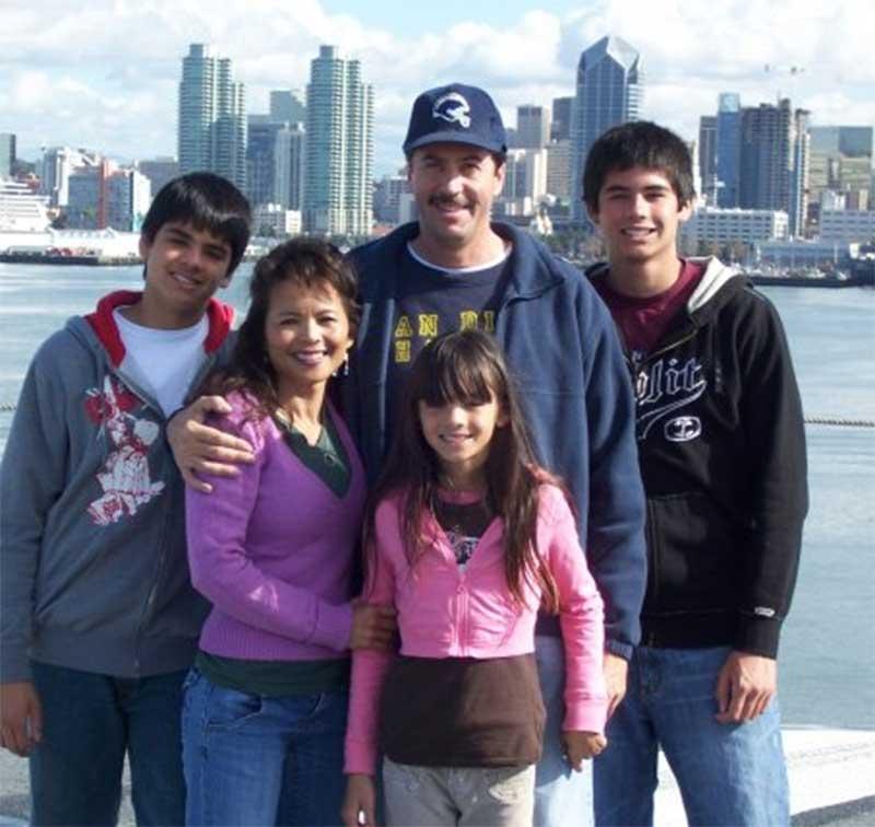 Dennis Burke father Christine Burke